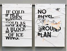 typographical art using ripped pages.