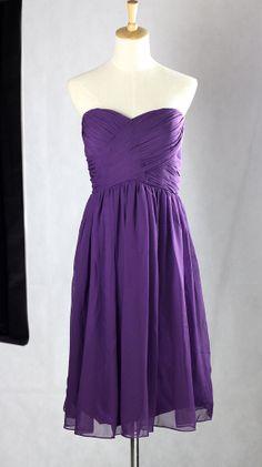 Purple Bridesmaid DressChiffon Short Bridesmaid by Mondora on Etsy
