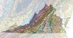 Geologic Maps of the 50 United States: Virginia Geologic Map