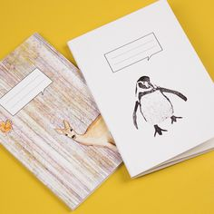 Very cute animal based notebook designs for www.leonandcoco.com - like them? Please re-pin! 25 x custom A6 notebooks are only £35 from our website.