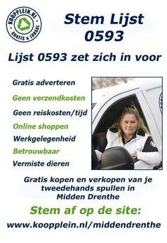 #Stem niet alleen vandaag af @Henk Meijer maar stem alle dagen af op http://koopplein.nl/middendrenthe/laatste-advertenties #verkiezingen