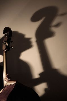 ♪♫ Music ♪♫ Instrument double bass shadow