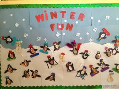 Penguin Winter Fun! Look what our teachers came up with! Children could ski, snowboard, or sled!
