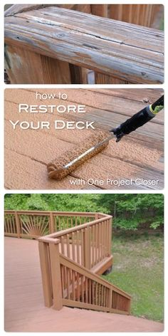 Rust-Oleum Deck Restore gives new life to an old deck. Deck & Concrete Restore is thicker than other coatings to fill cracks and splinters. Outdoor Spaces, Outdoor Living, Outdoor Decor, Rustoleum Deck Restore, Outdoor Projects, Home Projects, Decks And Porches, Home Repairs, Reno