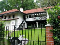 Singapores black and white house