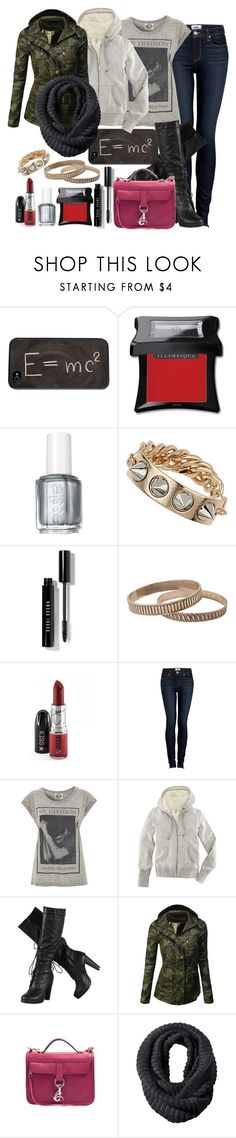 """""""Only hate the road when you're missing home..."""" by dancingincombatboots ❤ liked on Polyvore featuring Theory, Illamasqua, Essie, Topshop, Bobbi Brown Cosmetics, Paige Denim, H&M, Doublju, Rebecca Minkoff and Merona"""