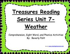 Macmillan/McGraw Hill Treasures Reading Series Weather Lit