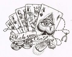 Make your own Luck tattoo stencil