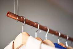 Bildresultat för klädstång koppar hall