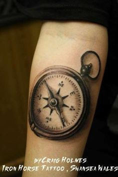compass tattoo by valeria