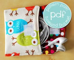 iPhone Earbud case sleeve sewing pdf tutorial and by patternpatti, $5.00