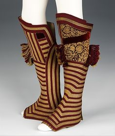Uniform gaiters ~ ~ Spanish ~ silk, metal, wool, leather ~ Brooklyn Museum Costume Collection at The Metropolitan Museum of Art Historical Costume, Historical Clothing, Vintage Outfits, Vintage Fashion, Costume Collection, Costume Institute, Folk Costume, Art Costume, Laura Lee