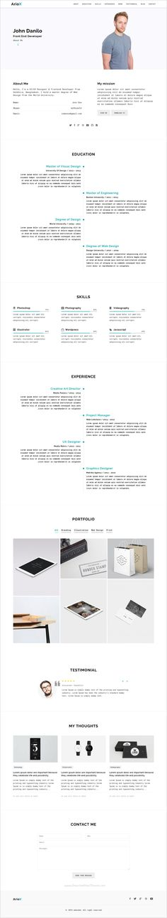 Resme - Responsive Personal Portfolio   Resume   CV   vCard - portfolio for resume