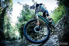 Photo of  in Finale Ligure, Italy. Jared Graves has a solid lead.  All he needs to do now is finish with out any mishaps.