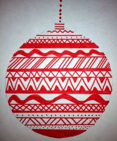 """Art: Expression of Imagination: """"Line Design Ornaments"""" by Eighth Grade"""