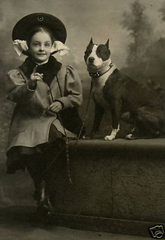 A girl and her pit bull