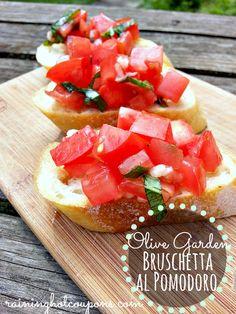 Copycat Olive Garden Bruschetta al Pomodoro Recipe (Click Image)