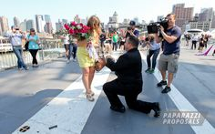 This proposal had it all! Marching bands, amazing back drops, family and the whole proposal was captured on The Today Show!  Paparazzi Proposals teamed up with The Proposal Planner and NBC's The Today Show to bring the most amazing proposal EVER!