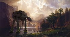 AT-AT Among the Sierra Nevada! Nature laughs last. Where in the Star Wars Universe would you like to retire? #starwars #atat #thelastjedi #theempire
