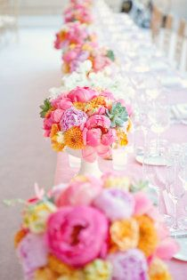 Still searching for that perfect wedding reception ideas for your big day? Then head to Wedding Reception Gallery for a whole lot more fabulous inspiration! Peonies Centerpiece, Floral Centerpieces, Wedding Centerpieces, Floral Arrangements, Flower Arrangement, Table Centerpieces, Graduation Centerpiece, Quinceanera Centerpieces, Succulent Centerpieces