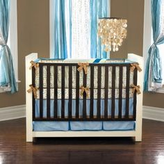 like the colors with the shell chandelier, Hayden 4-Piece Crib Bedding Set