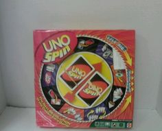 UNO SPIN- FAMILY BOARD CARD GAME By MATTEL 2005