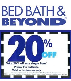 bed bath and beyond coupon deals plus