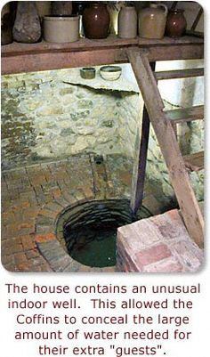 Indoor well in the basement of the Levi Coffin House - part of the Underground Railroad for slaves