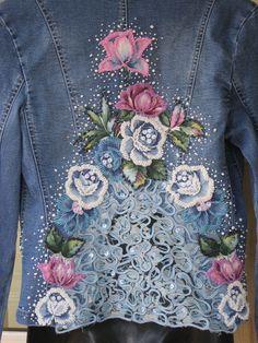 $220 Stunning OOAK Flower Embellished Sequin Beaded by GlamourZoya