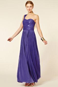 Oasis Mid Purple Pleated Maxi Dress