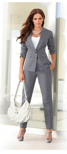 7fc9db56e0a84 I like two piece suits. Would prefer longer pants and a loser fit. Love the  color and accessories.