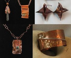 folded metal jewelry - Google Search