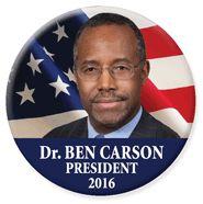 American Principals ~ Presidential Election 2016: Dr. Ben Carson for President 2016 button
