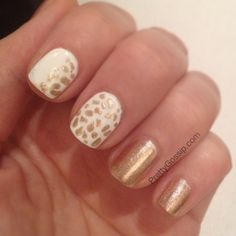 Due to popular demand, here's my Giraffe Print Nail Tutorial! Easy and Cute. ♥ MUST Pin and Try! #notd #nails