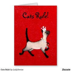 Cats Rule! Stationery Note Card