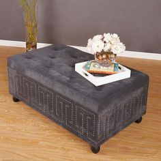 I pinned this Greek Key Ottoman in Grey from the Cachet Décor event at Joss & Main!