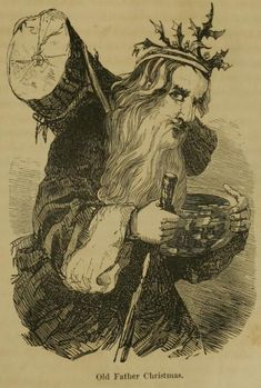 The Holly King/ Santa Claus or Father X-mas- call him whatever you want. Have you ever taken a really hard look at old Victorian holiday cards? Those are some pretty Pagan-friendly Santas. Crown of holly and a Yule log. Old World Christmas, Christmas Past, Victorian Christmas, Father Christmas, Modern Christmas, Christmas Images, Vintage Christmas, Christmas Cards, Christmas Posters