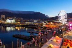 size: Photographic Print: South Africa, Cape Town, V and a Waterfront, Table Mountain, Evening by Catharina Lux : V&a Waterfront, Boulder Beach, Sailing Regatta, Table Mountain, Banksy, City Lights, Woodstock, Cape Town, Wonderful Places