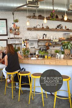 Butcher's Daughter Cafe NYC - Bright & airy, with delicious juices and healthy treats.