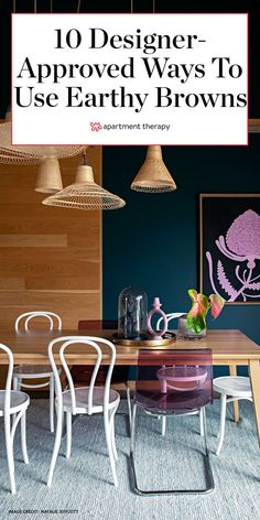 If you want to warm up your space, there's no better way than incorporating the color brown. Here are 10 designer-approved ideas to try. #brown #browndecor #boho #wood #wooddecor #mcm #midcenturymodern #interiors #designtrends #2020trends #colorsthatgowithbrown