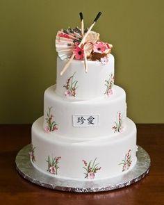 Asian cake style wedding pic
