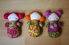 Sleepover Pals for Ruby by sixorangesocks, via Flickr