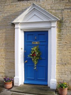 pretty blue door in french country style