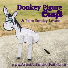 Palm Sunday Donkey Craft with Free Printables! #Easter #PalmSunday #BibleCrafts
