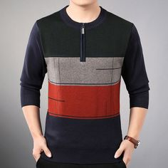 new line pull mens sweaters casual thick male pullover sweater slim fit men blusa masculina clothes jersey sweter man 31890 Gents T Shirts, Boys T Shirts, Pullover Sweaters, Men Sweater, Mens Sleepwear, Mens Designer Shirts, Casual Wear For Men, Frock Design, Kurta Designs