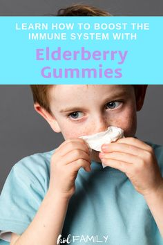 Are you looking for a healthy way to boost your kid's immune system? This easy DIY recipe for Elderberry Gummies is loaded with delicious ingredients that are healthy and immune boosting. Visit to learn more about the benefits of elderberry for kids or save for when you need this recipe later! #elderberrygummies #immuneboosting