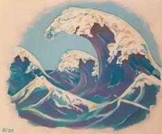 Umi Arashi (zeestorm), schilderij van Mimpi-ARt, Arjen Vonk | Abstract | Modern | Kunst
