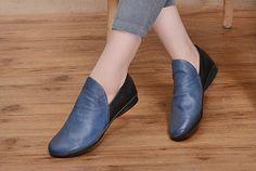 2016 nuevo Zapatos de cuero para mujer zapatos planos por HerHis