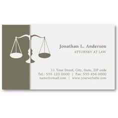 Attorney at law | think mini business card.