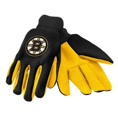 Boston Bruins Official NHL 2015 Ulitity Gloves - Colored Palm